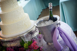 Champagne and cake