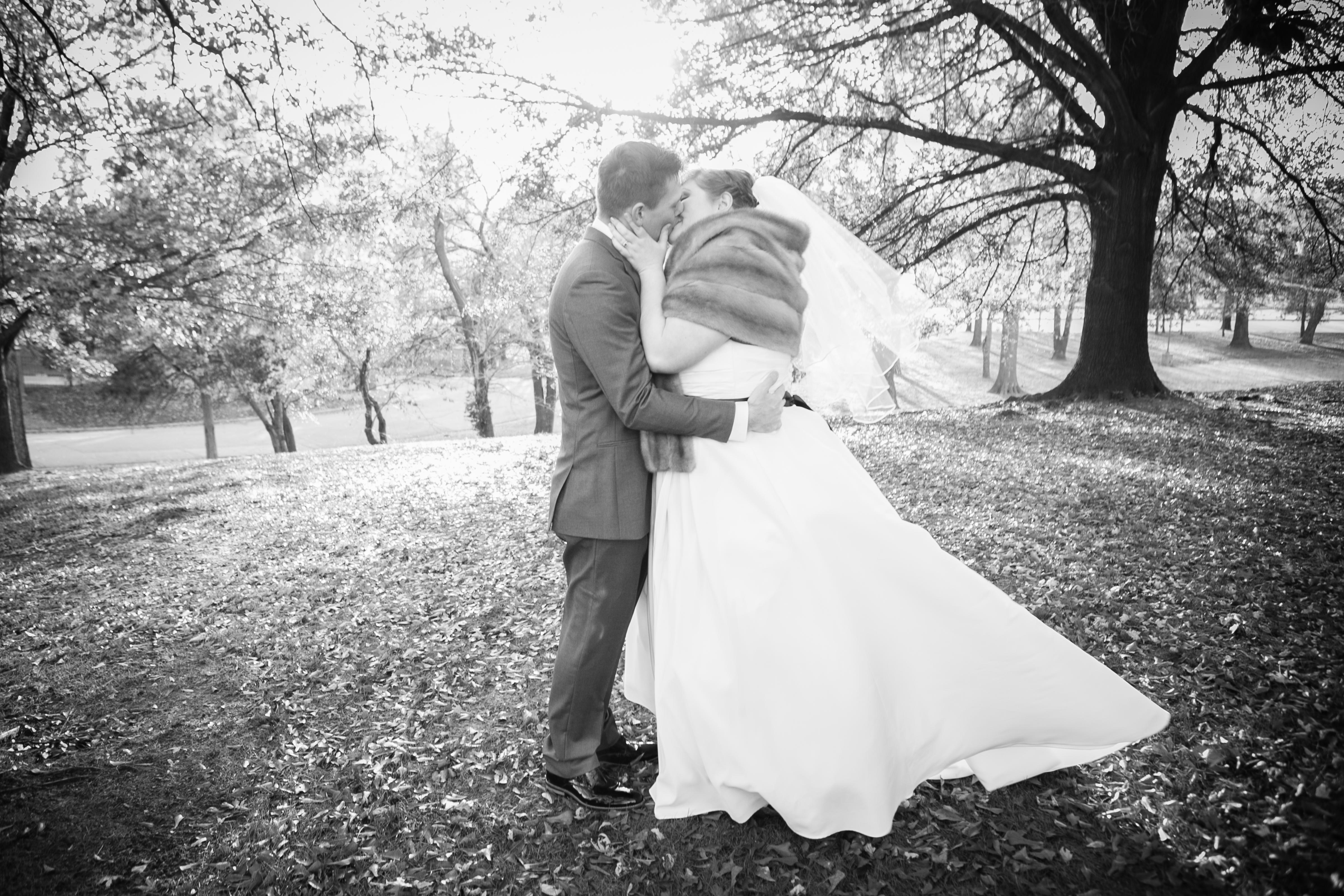 Tulsa winter bride and groom