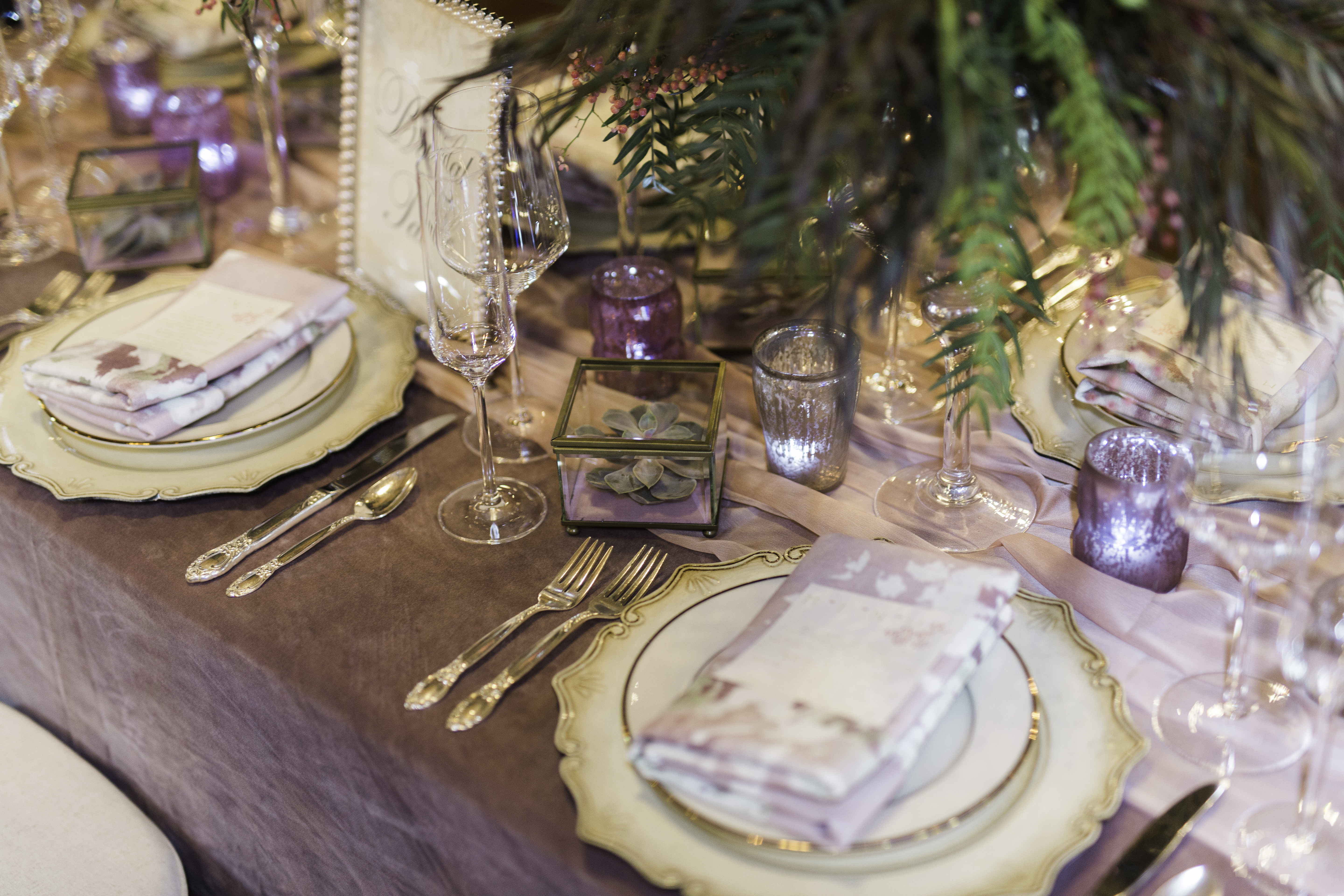 Bridal table details