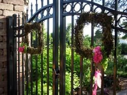 Garden gate wreaths