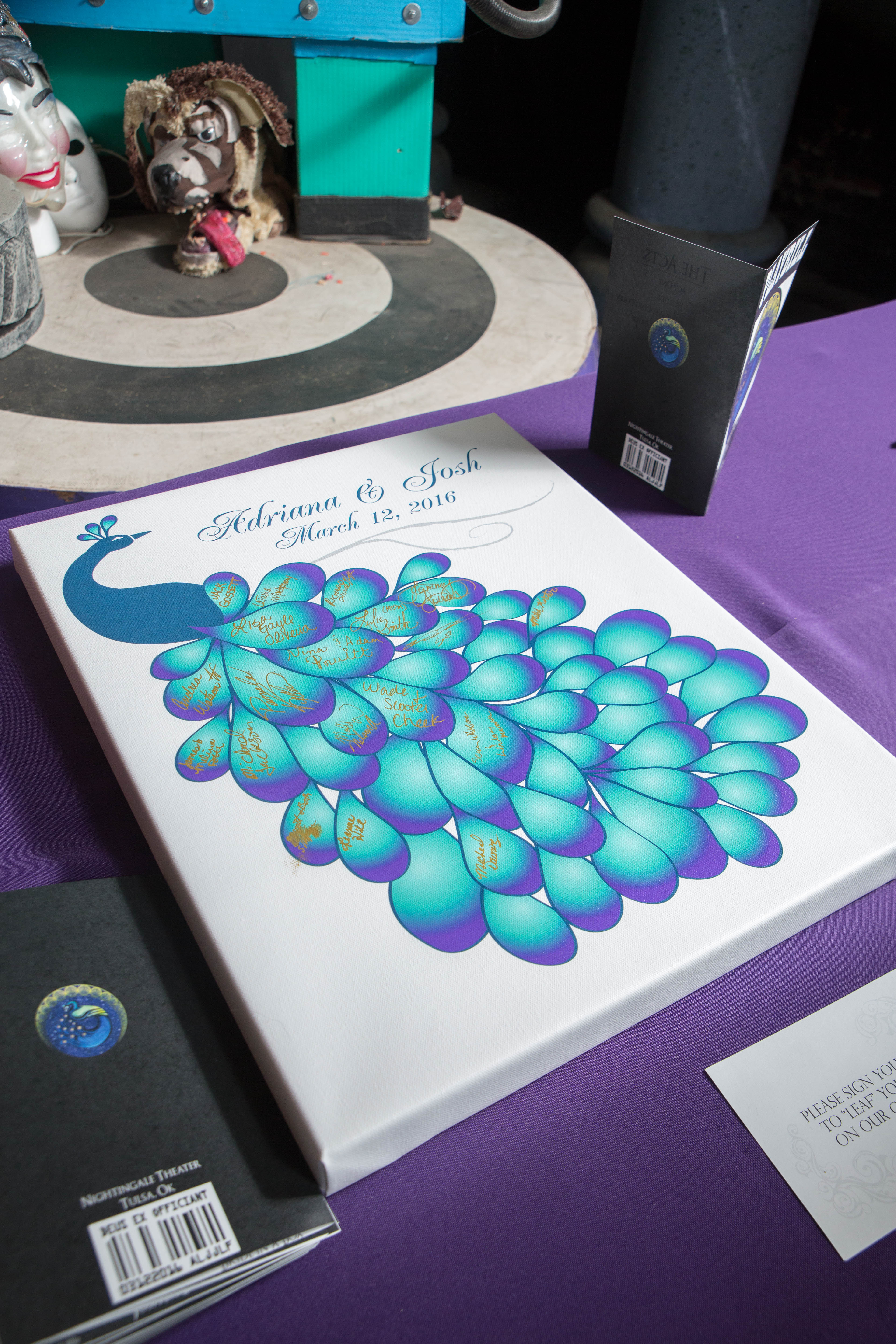 Peacock guest book