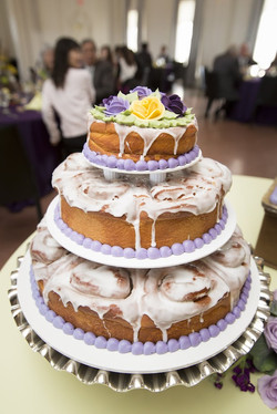 Cinnamon roll wedding cake