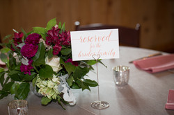 Reserved reception table