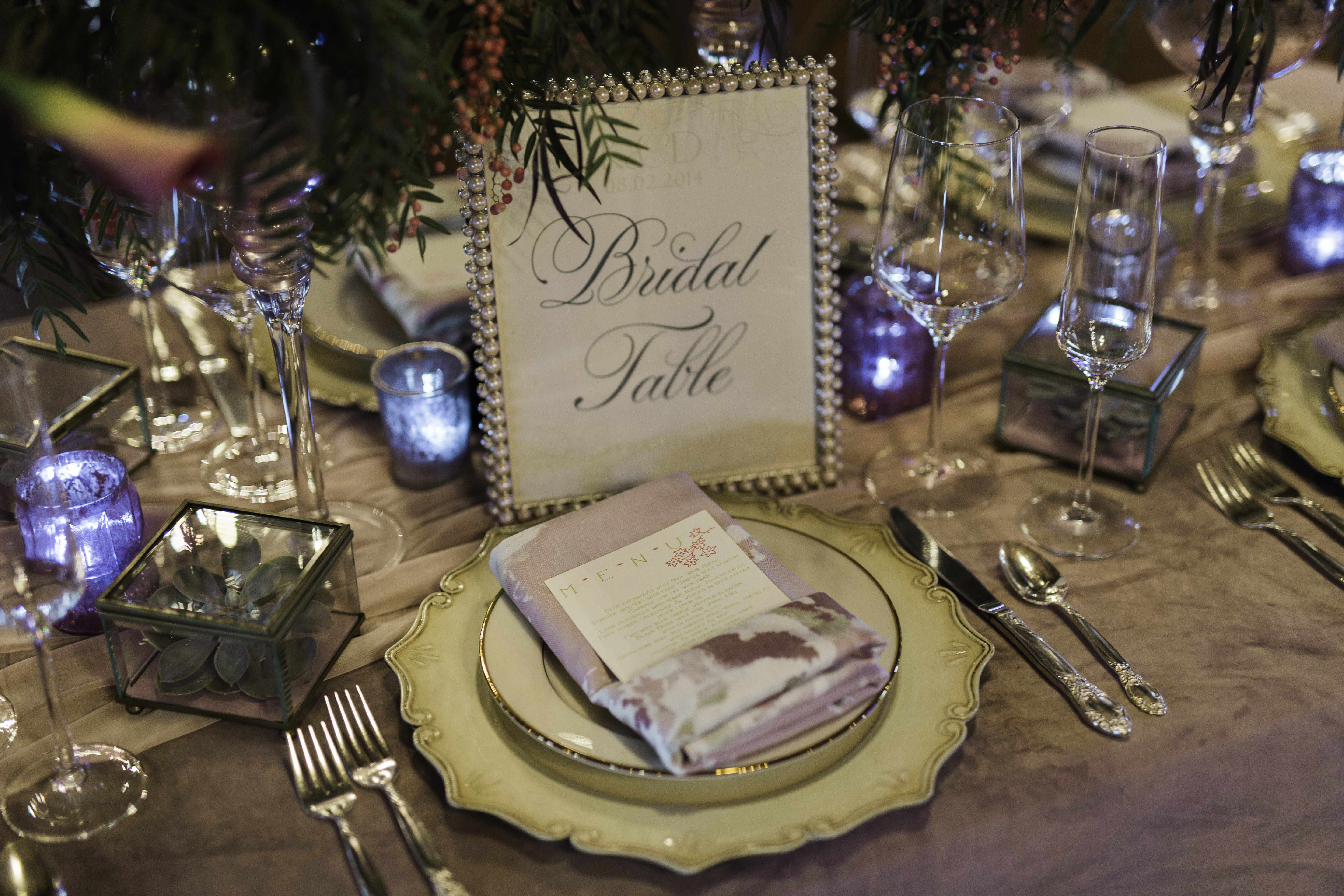 Bridal table place setting