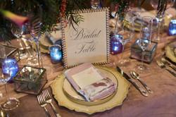 Bridal table place setting