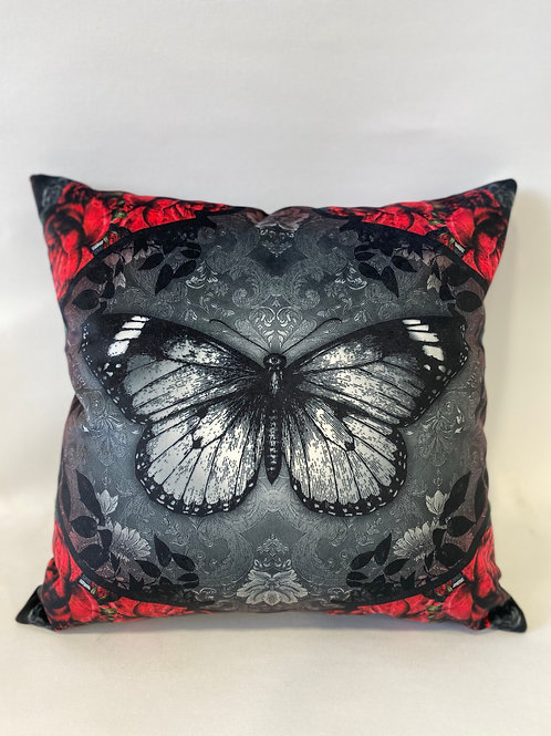 """Coussin déhoussable """"Bloody Butterfly"""" 40x40 cm"""