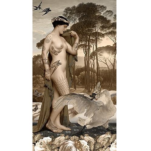 Tenture murale Léda et le cygne 69 x 100