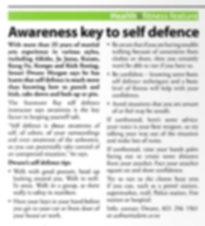Awareness key to self defence