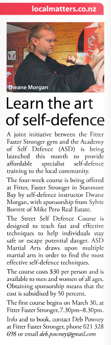 Learn the art of self defence