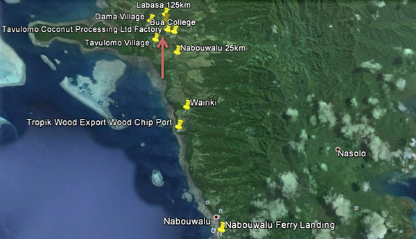 Bua, Vanua Levu Map