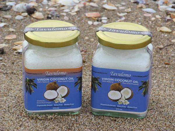 Tavulomo Coconut Oil and Ginger Coconut Oil Jars