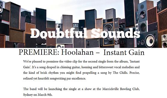 Doubtful Sounds Instant Gai Video Premiere