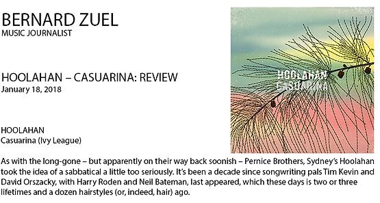Bernard Zuel Casuaria Album Reiew