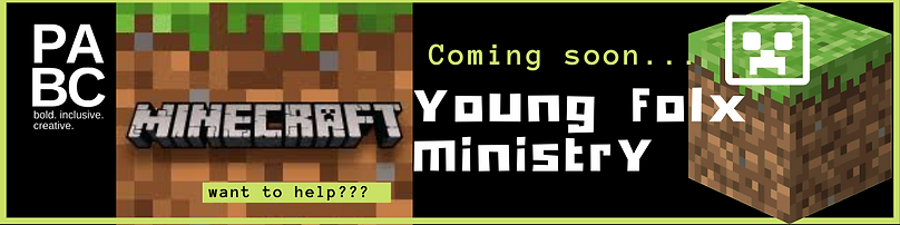 """""""Coming soon... Young Folx Minecraft Ministry"""