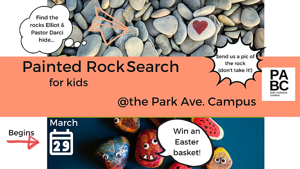 """""""Painted Rock Search for kids"""""""