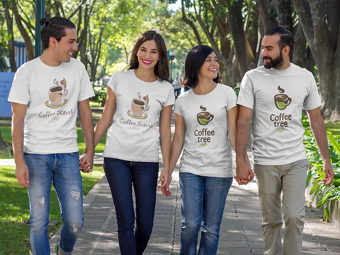 group-of-two-couples-walking-and-talking
