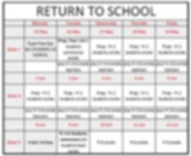 Return to school timetable.JPG