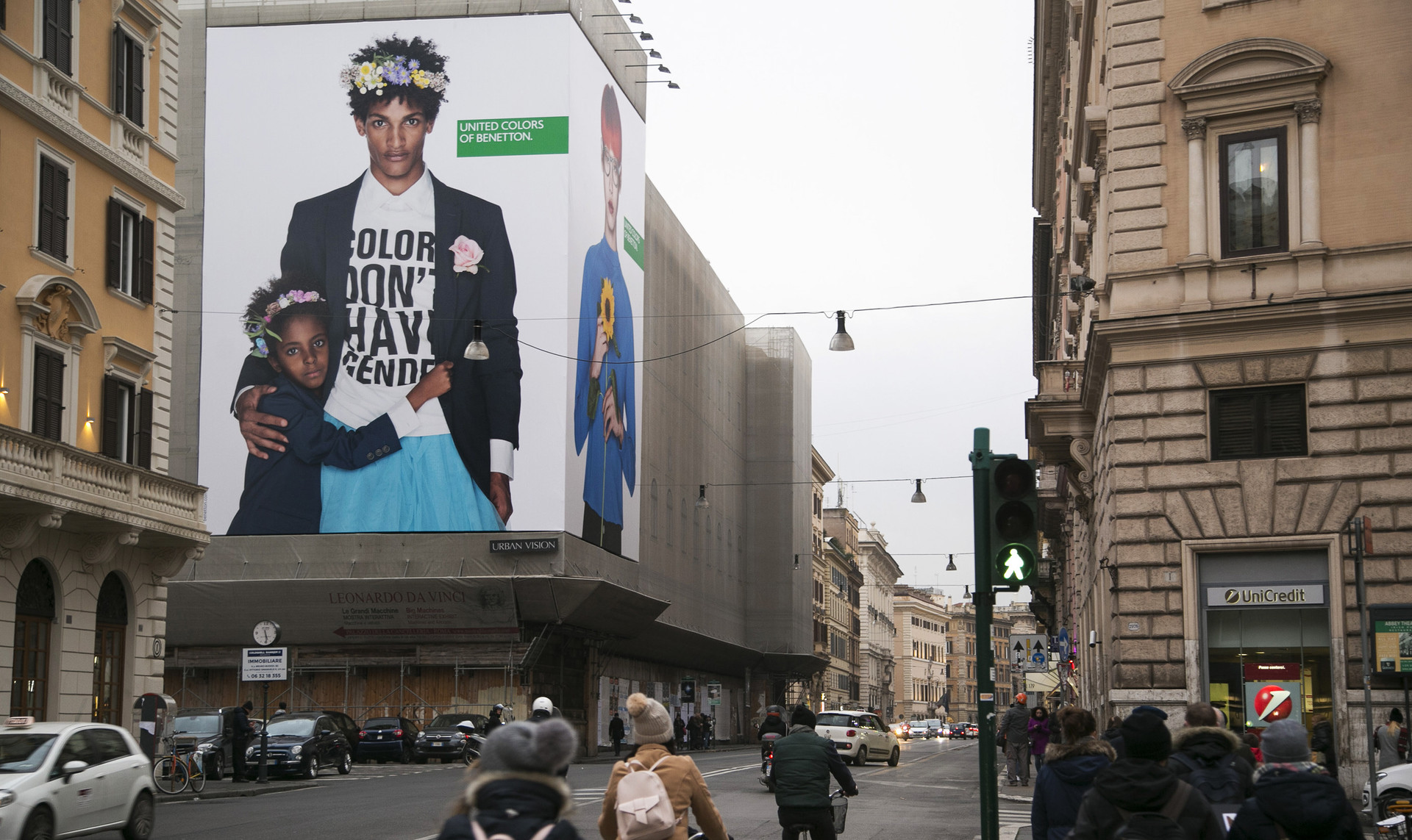 United colors of benetton campaign rome