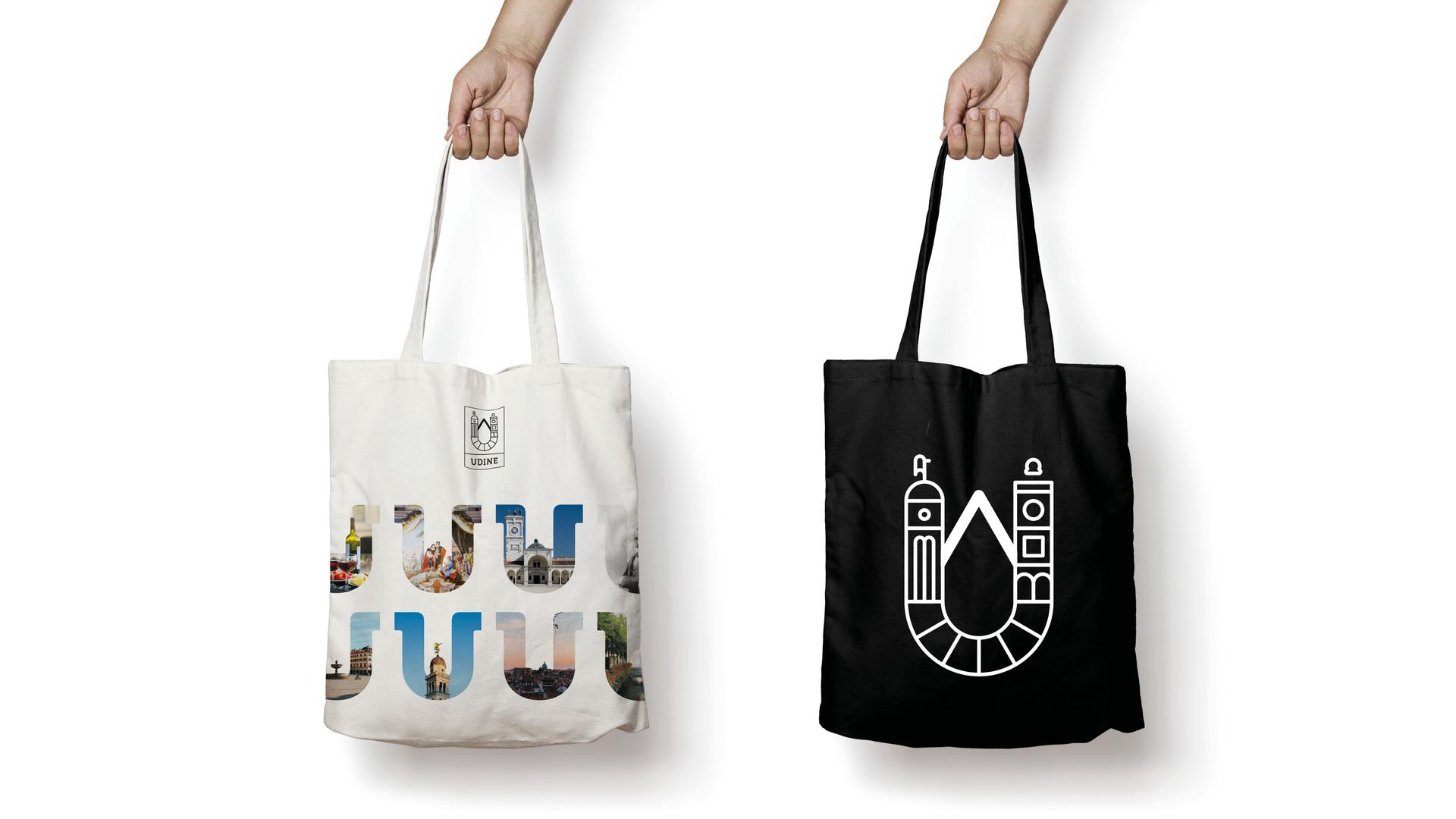 UDINE city branding tote bags