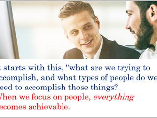 Three Keys to Growth - People, People, People