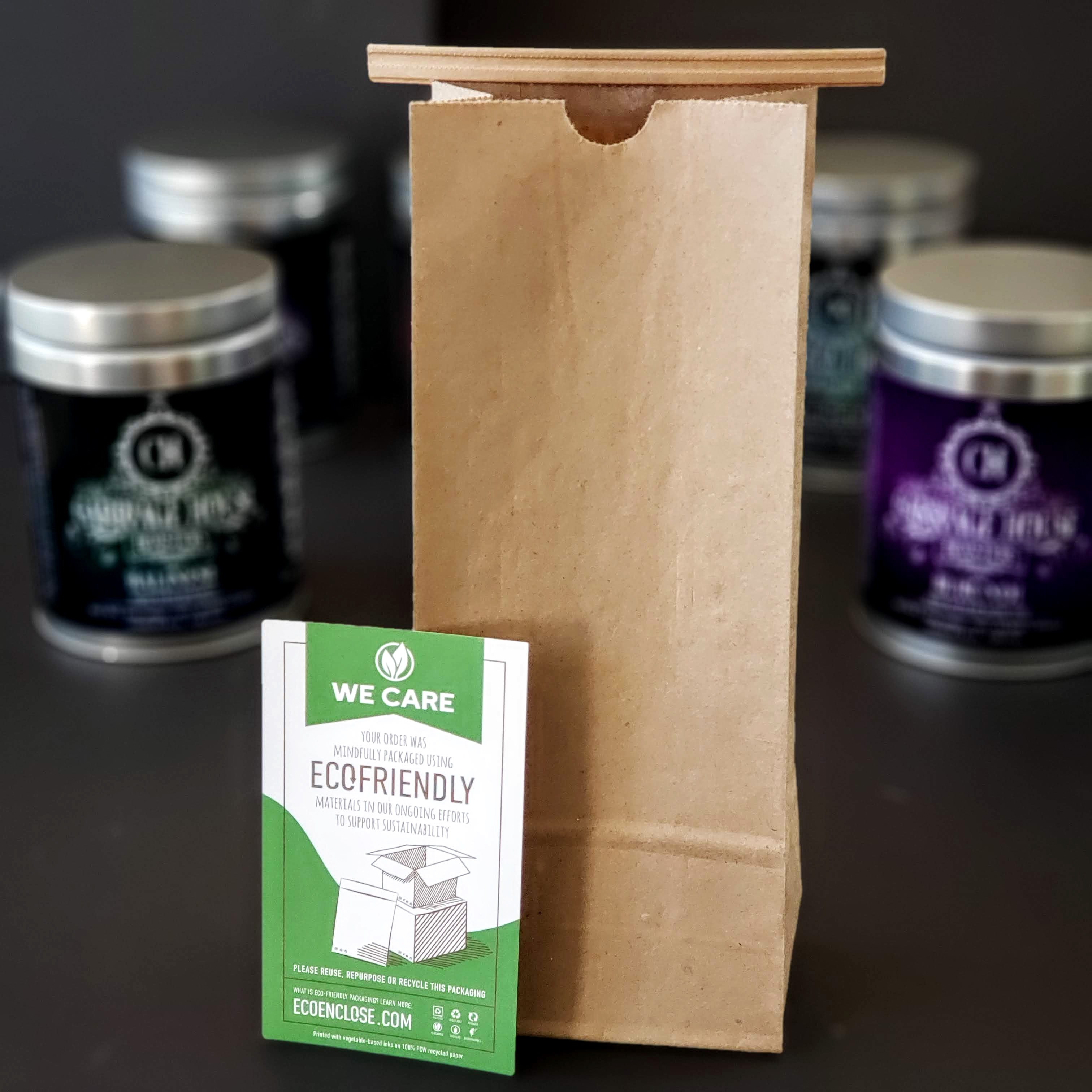 Our fully compostable bags made from recycled material
