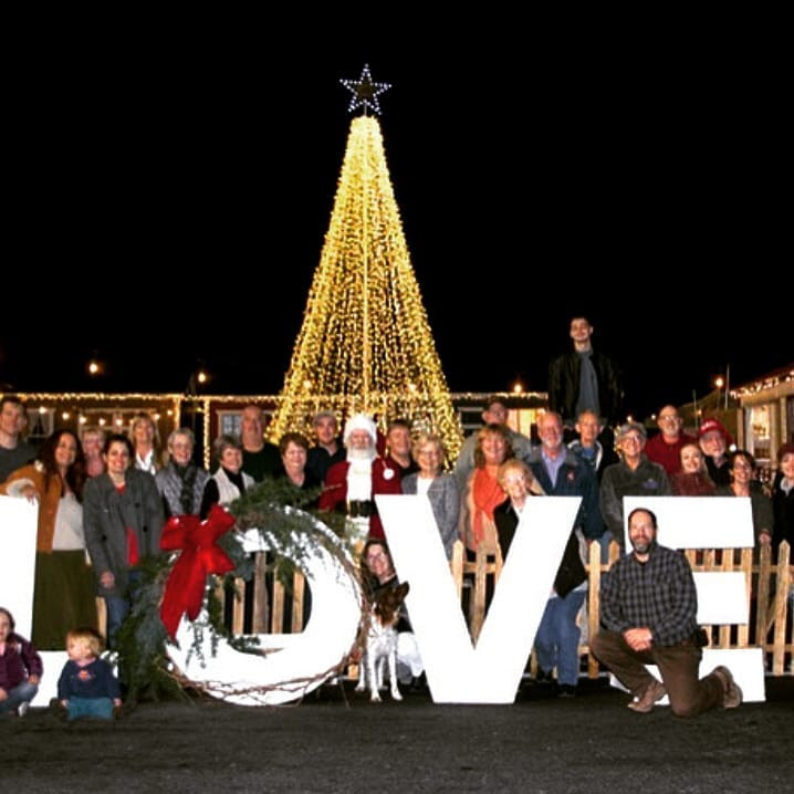 Vendors and Volunteers at the Timberville Christmas Village