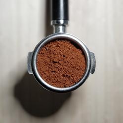 portafilter with coffee - espresso