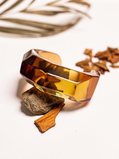 Bracelete transparente marrom 2
