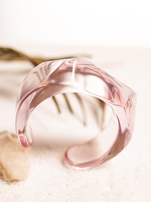 Bracelete transparente - rosa 1