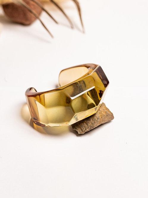 Bracelete transparente marrom 1