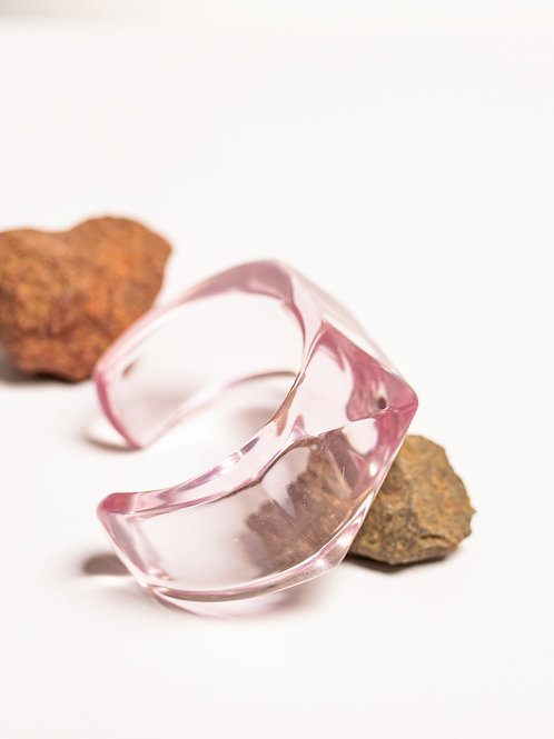 Bracelete transparente - rosa 2