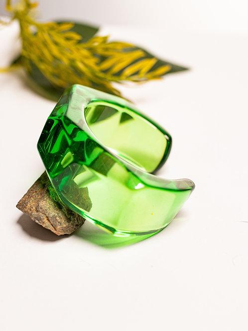 Bracelete transparente  verde escuro