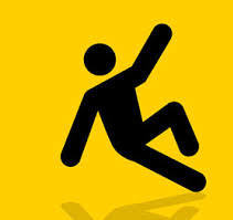 Stick figure of person falling