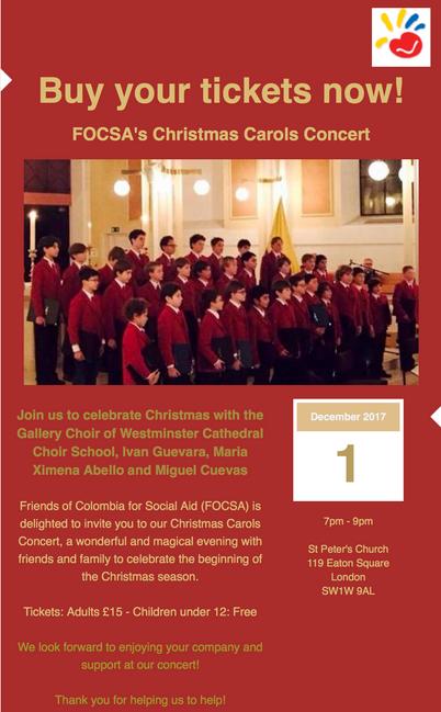 FOCSA Christmas Carols concert