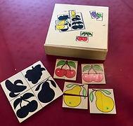 16 Puzzles de 2 pièces sur le thème des fruits