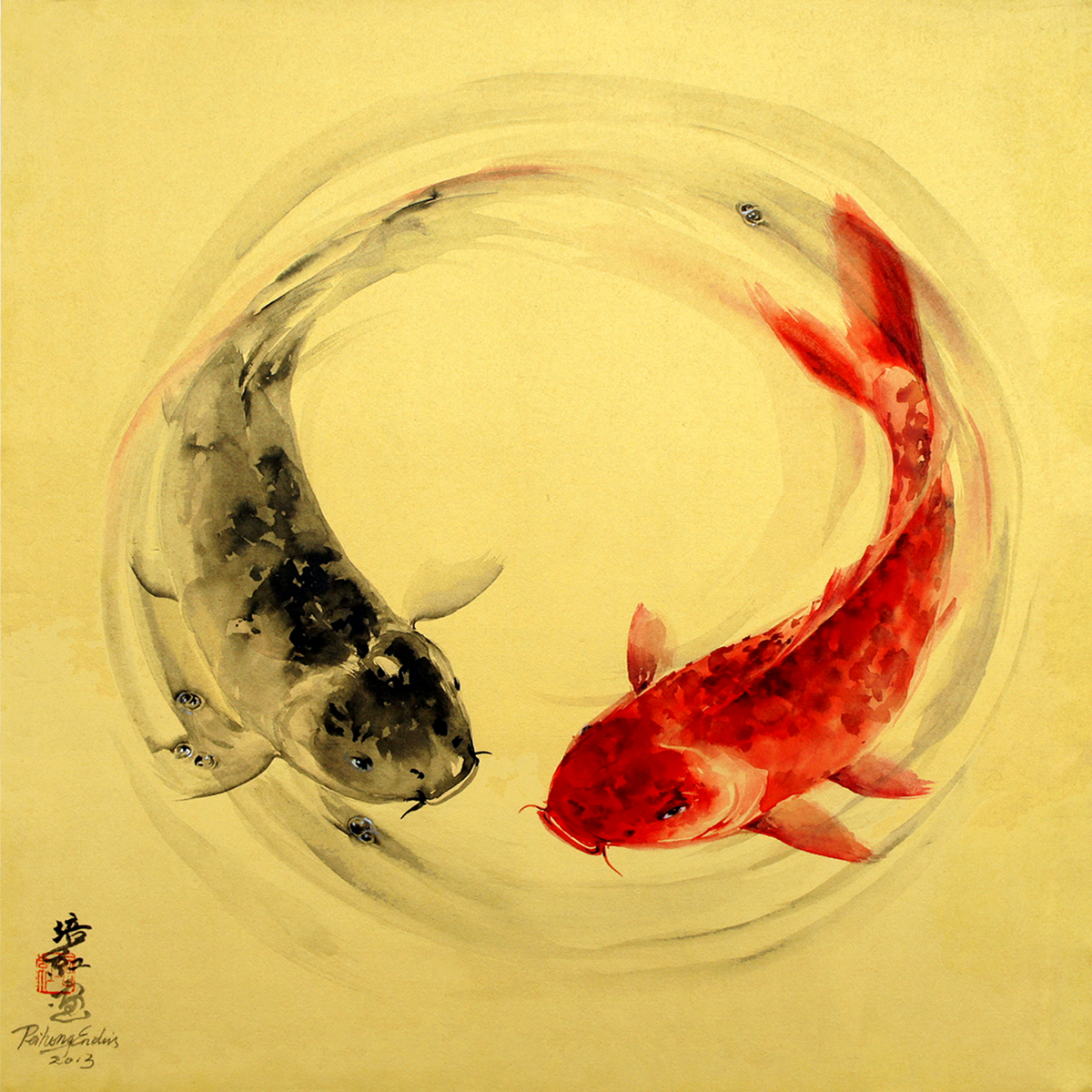 Yin Yang Koi - Peihong E.jpg