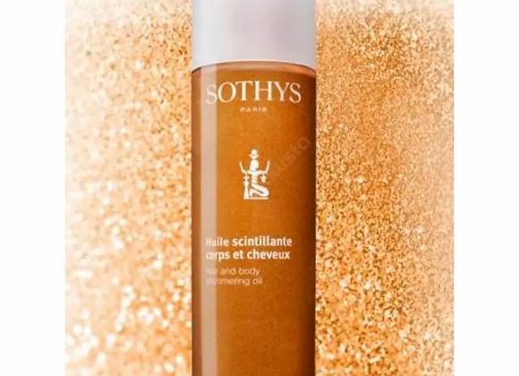 huile scintillante cheveux et corps sothys