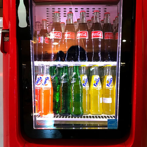 Imported Mexican soft drinks