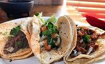 carne asada tacos, shrimp tacos, carnitas tacos