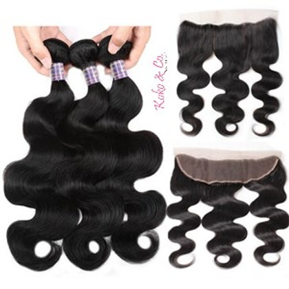 8A Body Wave 3pc + 13x4 Frontal