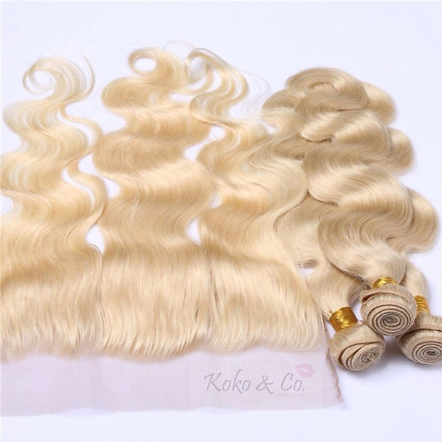 613 Body Wave 3pc + 13x4 Frontal