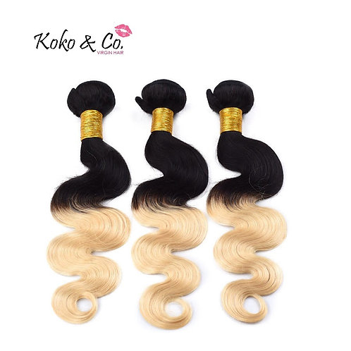 8A Brazilian Straight/ Body Wave 1B/613 3pc