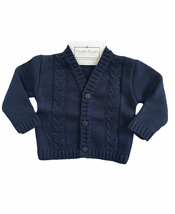 Boys Knit Cardigan - Navy