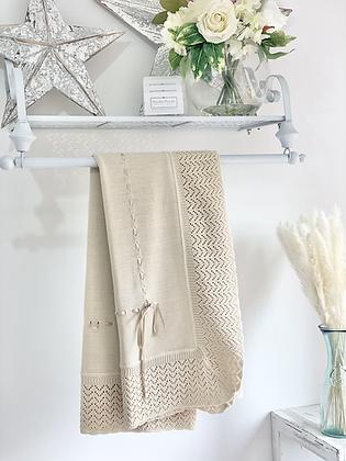 Baby Spanish shawl/Blanket - CAMEL