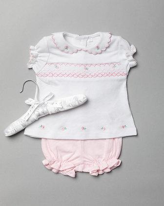 Baby Smock Floral set