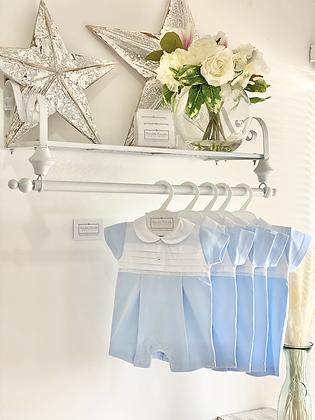 Baby Boys Blue & White Romper