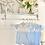 Thumbnail: Baby Boys Blue & White Romper