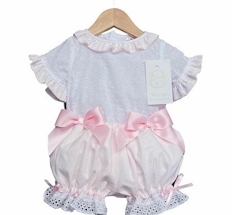 Baby Girls Pink Bloomer set