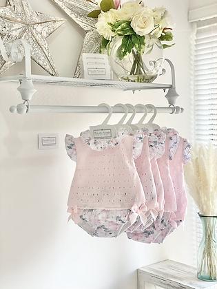 Baby girls Floral Bow Jam Pant Set -