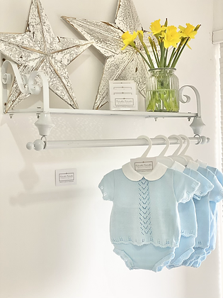 Baby Boys knit  Jam Pant Set - BABY BLUE
